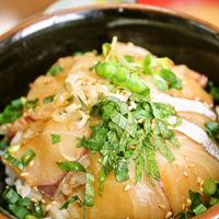 アジのぽん酢漬け丼